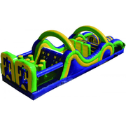 35' Wacky Obstacle Course Interactive Inflatable