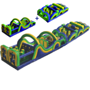 65' Wacky Obstacle Course Interactive Inflatable
