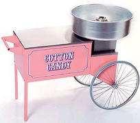 Cotton Candy Machine with Shown Cart