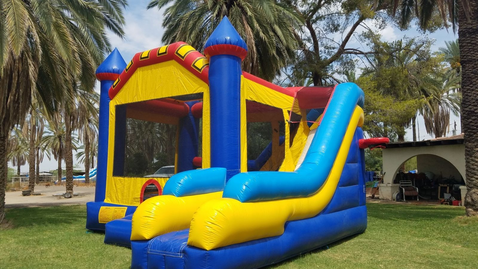 6in1 Blue Bounce Slide Combo for Rentin Arizona