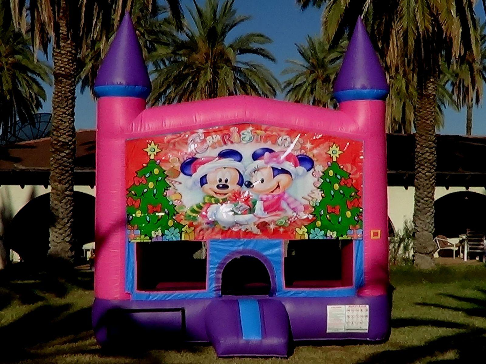 Christmas Mouse Bounce House