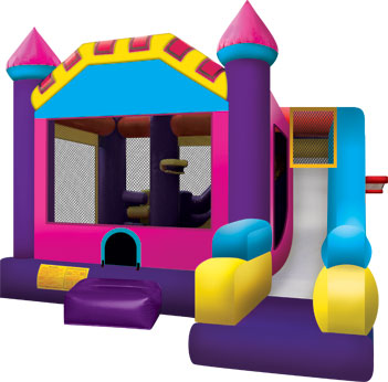 6in1 Pink-Purple Bounce Slide Combo for Rent in Arizona