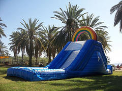 Rainbow Water Slide with Landing Pool