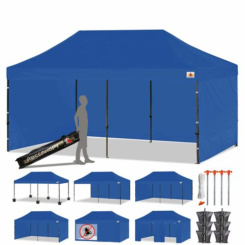 10x20 Blue tent with your choice of wall set up
