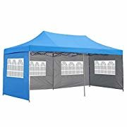10x20 Popup Tent with side walls