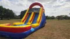 Two lane 18ft Tall Wet n Dry Rock Climbing Slide