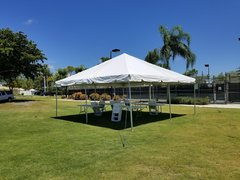20x20 Tent, Tables and chairs package