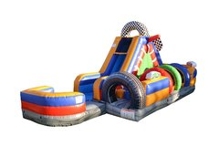 30 FT RACING OBSTACLE COURSE R WITH WATER SLIDE