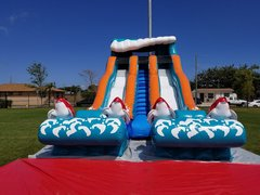 Double Big Kahuna Water Slide