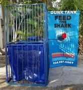 Dunk Tank with Feed the Shark banner