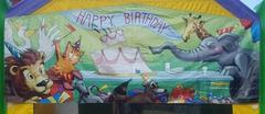 Happy Birthday Animals Banner