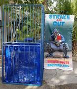 Dunk Tank with Strike Em out banner