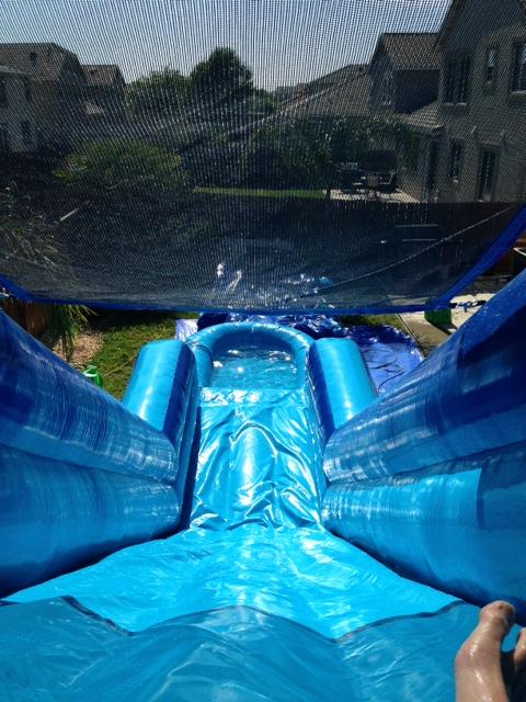 Top of water slide
