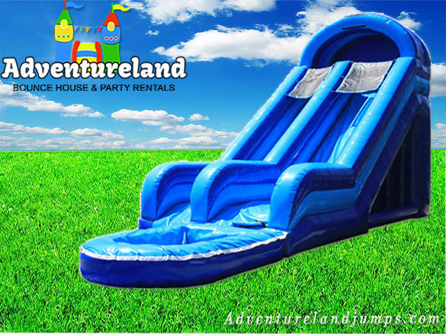 20' High Blue Wet Slide