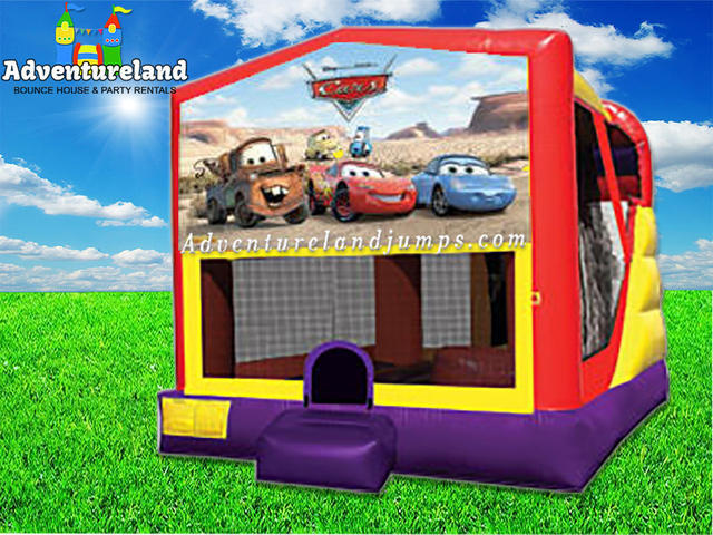 Cars Bounce House Water Slide Combo