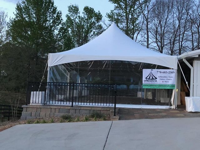 10ft clear sidewalls tents