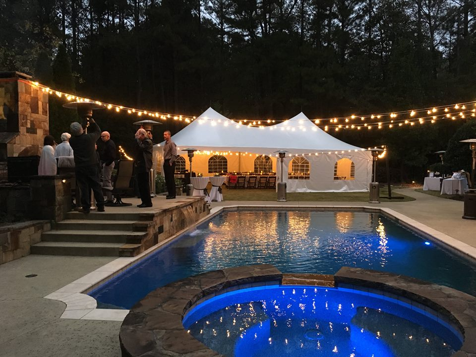 20x40 wedding tent cafe lighting