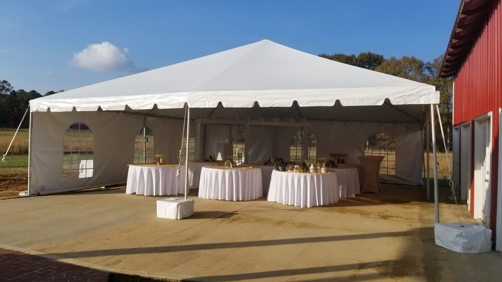 30x30 Wedding Tent Newnan Georgia