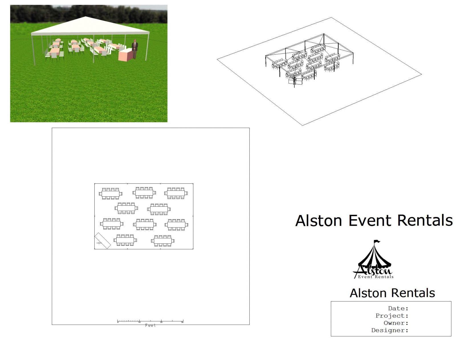 30x45 tent wedding floor plan