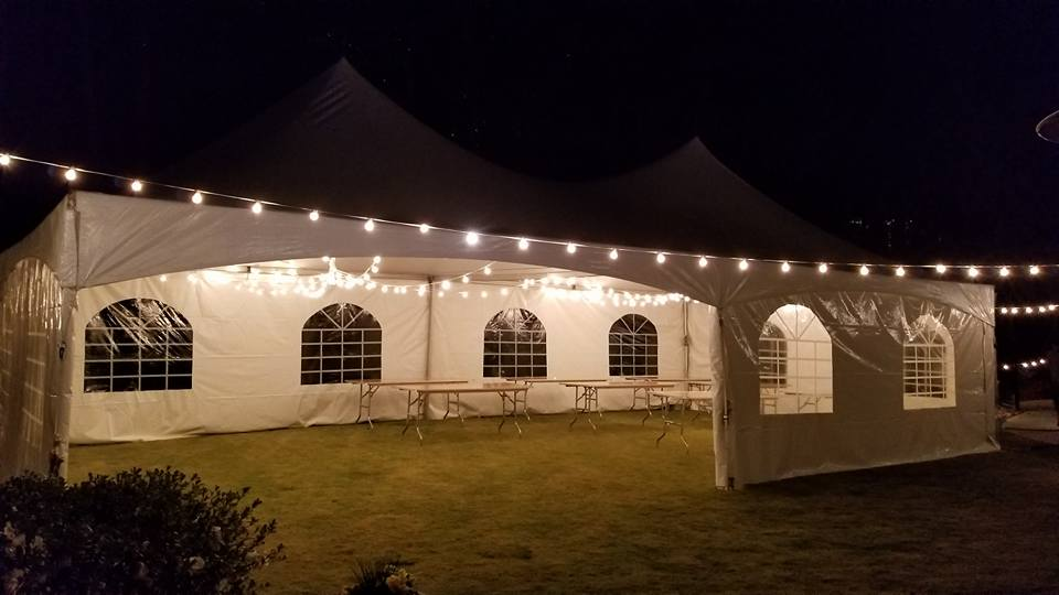 lighting for 20x40 tent