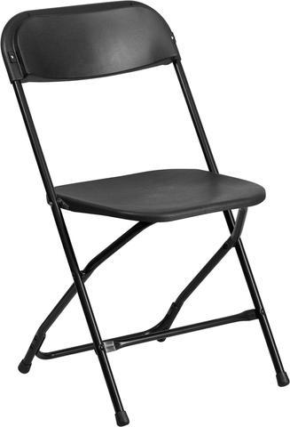 Black Plastic Folding Chairs
