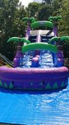 A 18ft Tropical Purple Crush Water Slide