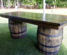 Whiskey Barrel Farm Table
