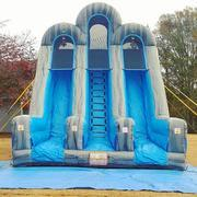 20ft Dual Lane Dry Slide