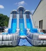 20ft Dual Lane Water Slide