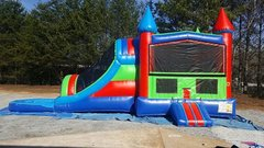 Combo Dual Lane Water Slide Blue and Green