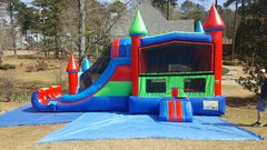 Combo Dual Lane Dry Slide Castle