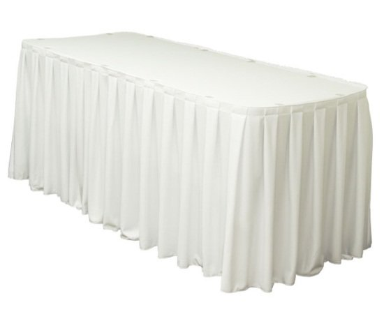 White Table Skirts