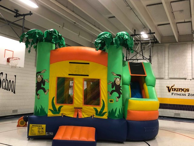 Monkey Bounce House Combo