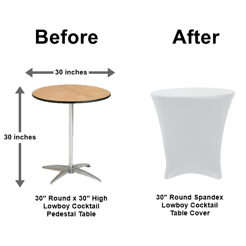 30 Sit Down Round Tail Tables Los Angeles Fiesta King