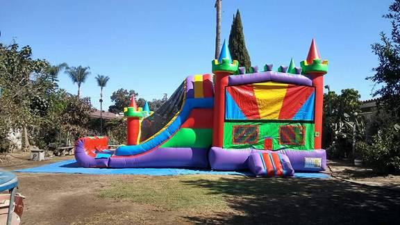 Combo jumper with Slide Rental Los Angeles