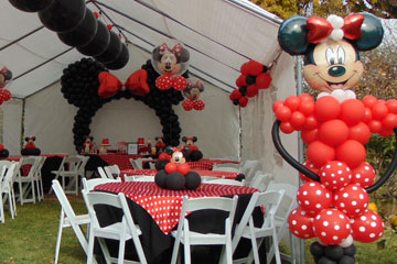 Red Minnie Mouse Balloon Decoration in Los Angeles, Ca