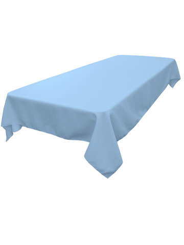 Rectangle Tablecloth (Polyester/Light Blue)