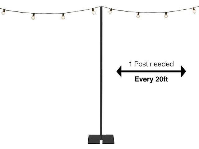 Al String Light Installation Pole