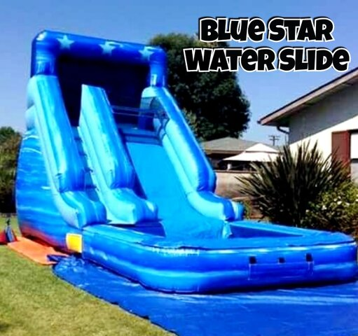16'H Blue Star Waterslide