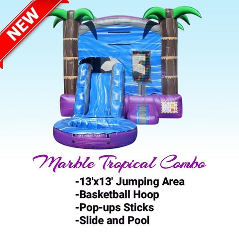 Marble Tropical Combo (with pool)