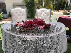 Bride and Groom Wing Back Chair 2 pcs