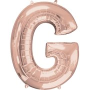 """G"" Rose Gold Letter Inflated (34in)"