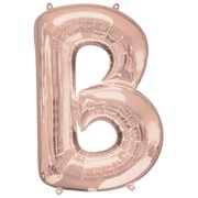 """B"" Rose Gold Letter Inflated (34in)"