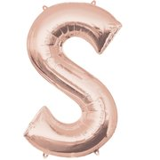 """S"" Rose Gold Letter Inflated (34in)"