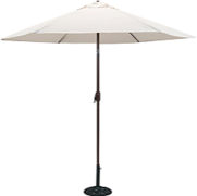 9' White Umbrella w/base