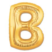 """B"" Gold Letter Inflated (34in)"