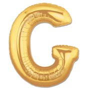 """G"" Gold Letter Inflated (34in)"