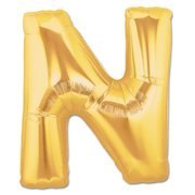 """N"" Gold Letter Inflated (34in)"