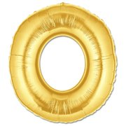 """O"" Gold Letter Inflated (34in)"