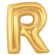 """R"" Gold Letter Inflated (34in)"